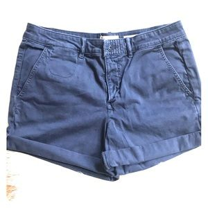 Anthropologie Navy blue chino short, relaxed 28